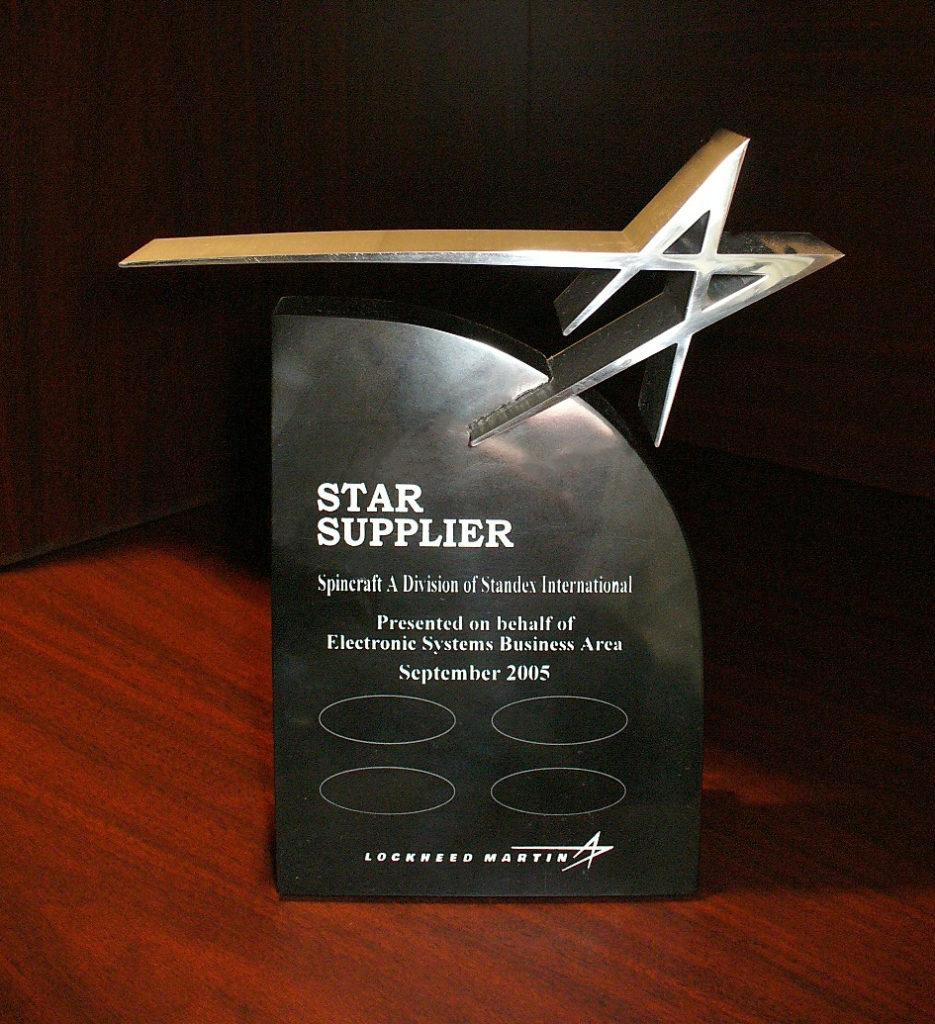 Testimonials   Challenger Supplier Award   Standex ETG
