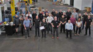 Spincraft UK Team Together for Marty Jones' Retirement